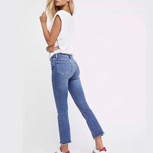 Free People   High Rise Released Hem Crop Jeans 27